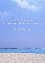 Free Happy Birthday Card With Sea Happy Birthday Cards Free