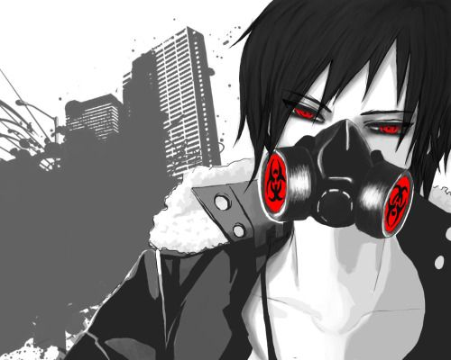 Anime Guy Gas Mask Tumblr With Images Cute Anime Boy