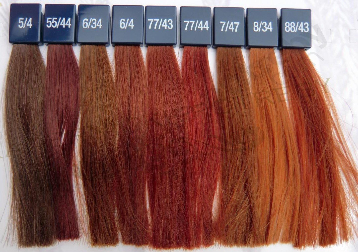 Wella koleston perfect vibrant redsg hair color charthair also red rh pinterest