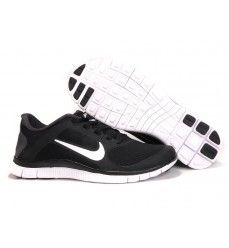 Soldes Nike Free 4.0 V3 Femme Noir Blanc-20