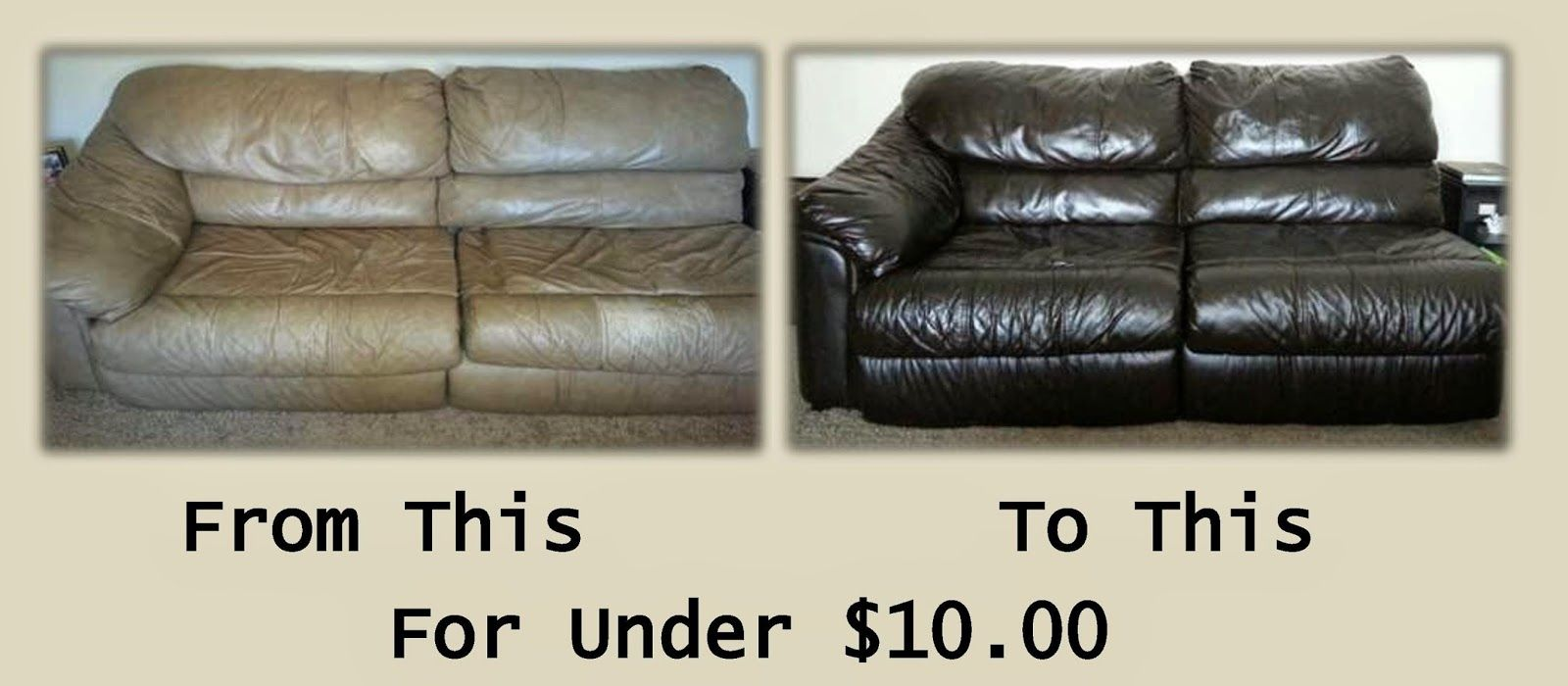How To Remove Hair Dye Stain From Leather Sofa Rounded Arms The Easiest Cheapest Diy Project Ever Turn Your Old Worn Out Into A Work Of Art For Under 10 Hackleman S Happenings