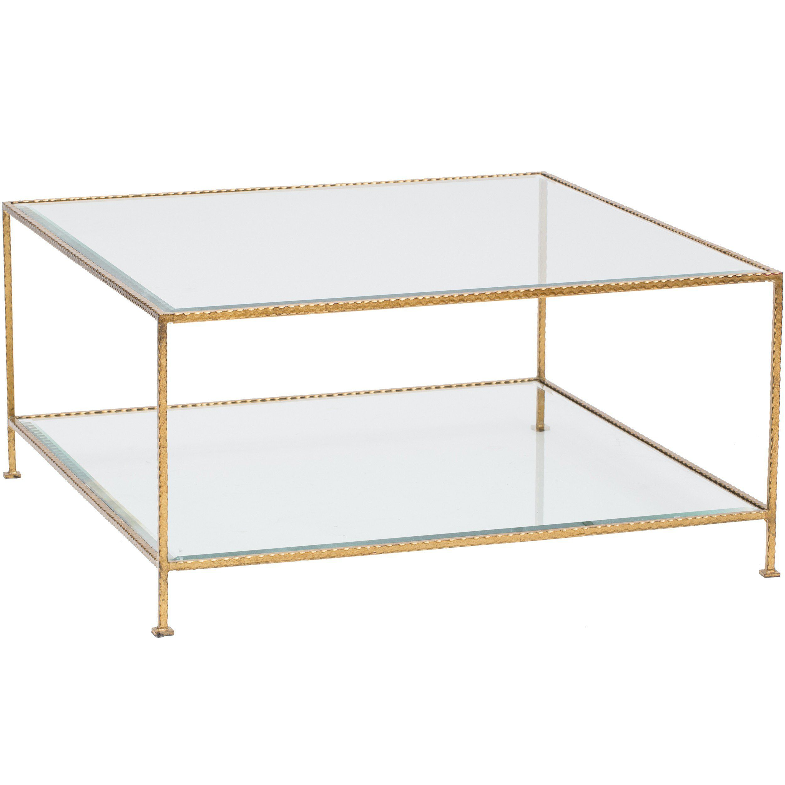 Worlds Away Quadro 2 Tier Square Coffee Table Gold Coffee Table Square Coffee Table Gold Coffee Table [ 2500 x 2500 Pixel ]