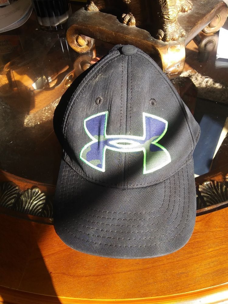 size 40 01dd5 eacfc Under Armour Gray Lime Green Logo Hat Cap Fitted  fashion  clothing  shoes   accessories  mensaccessories  hats (ebay link)