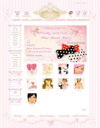pretty and cute e commerce website design and development cute