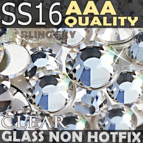 $11.31 (Buy here: http://appdeal.ru/5sik ) AAA Excellent SS16 Clear Non Hot Fix Rhinestone For Jewelry Crystal Decorations Nail Art Glitters DIY Glass Decor strass stones for just $11.31