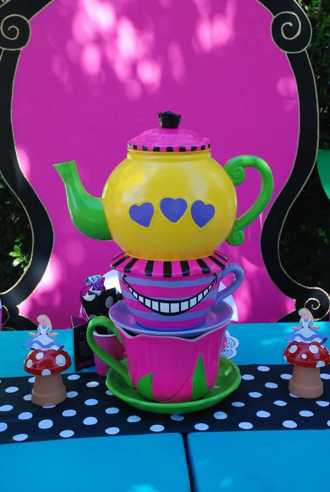 Alice in Wonderland, Mad Tea Party Birthday Party Ideas | Pinterest ...
