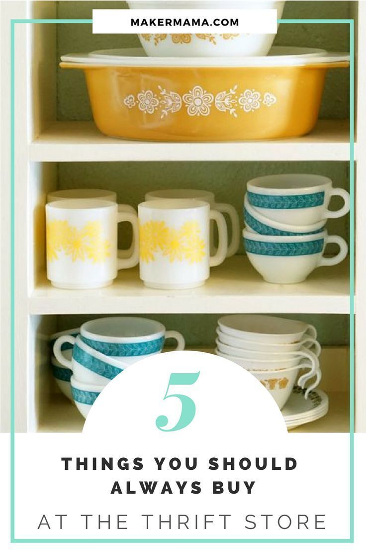Five Things You Should Always Buy from the Thrift Store #thriftstoreupcycle Five Things You Should Always Buy from the Thrift Store - Maker Mama #thriftstorefinds Five Things You Should Always Buy from the Thrift Store #thriftstoreupcycle Five Things You Should Always Buy from the Thrift Store - Maker Mama #thriftstorefinds