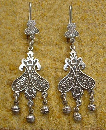 Egyptian Arabic Earrings Bedouin Jewelry Cartouche Gold Cartouches