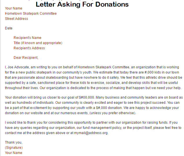 Letter Sample Related Keywords Amp Suggestions Charity Donation