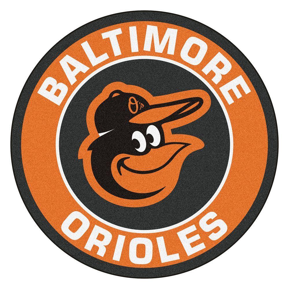 Baltimore Orioles Round Floor Mat 29 Baltimore Orioles Orioles Orioles Logo