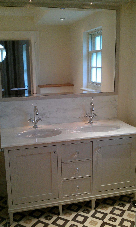 Hand painted bathroom vanity - Bespoke Hand Built Painted Vanity Unit