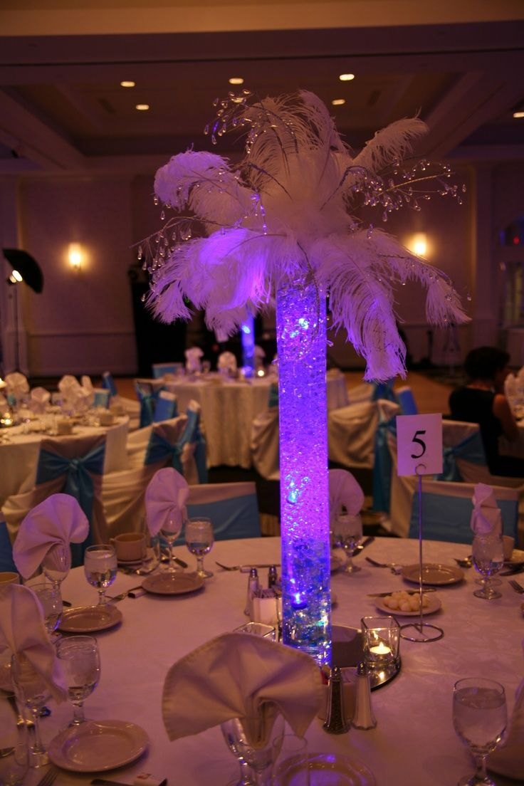 Lighted Tree Centerpieces For Weddings | LED Submersible Tea Lights In Table  Vases. Love These