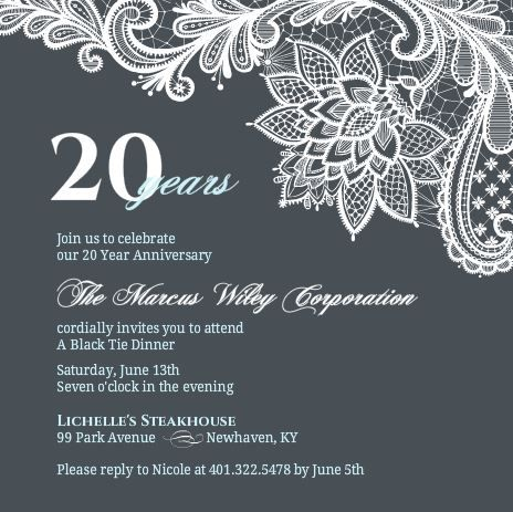 Business anniversary invitation wording anniversary party business anniversary invitation wording stopboris Images