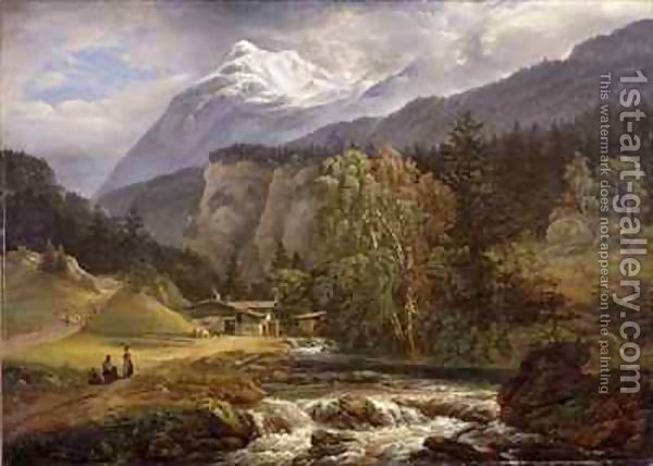 Johan Christian Dahl (1788–1857): Alpine Landscape