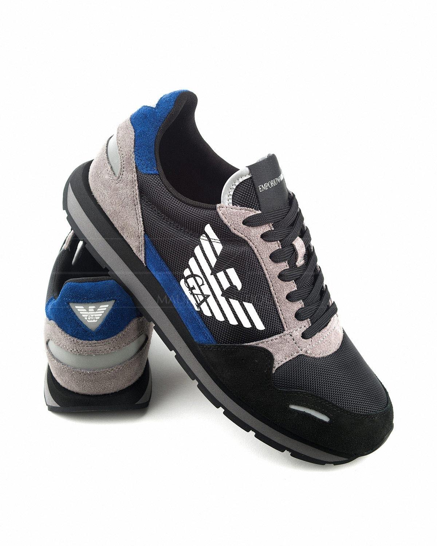 brand new 1c0ec 63b39 Zapatillas EMPORIO ARMANI ® Negro   Gris   ENVIO GRATIS