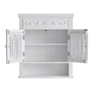 Add A Touch Of Elegance To Your Bathroom With This White Wall Cabinet By Fair Lady The Is Made Out Wood Gl And Fabric