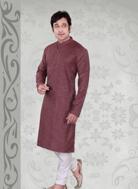 35c2750d0cca9 latest fashion kurta pajama in Wine color