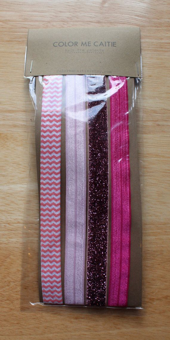elastic headbands -- pink party palette / etsy