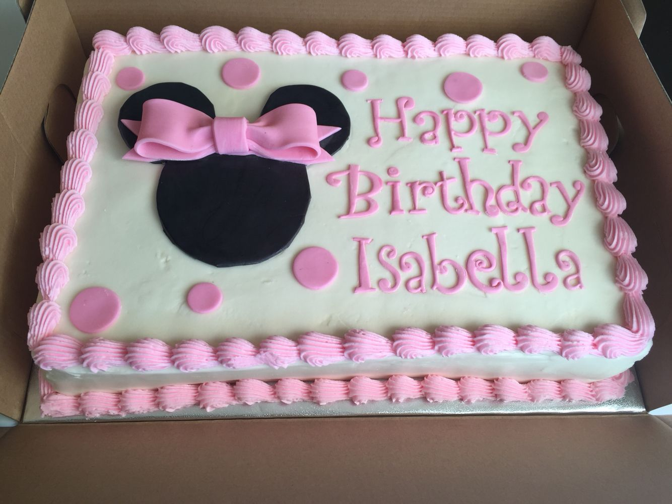 Minnie Mouse Sheet Cake Cake Pinterest Minnie mouse Mice