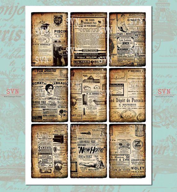 Anuncios franceses de Periódico antiguo 9 por suvenireprints