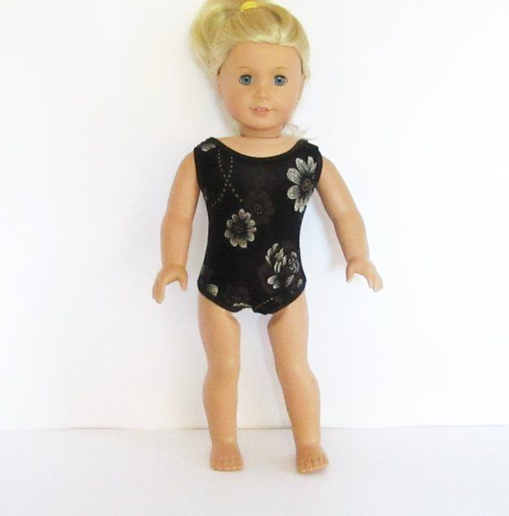 7a7290e6136b One Piece Swim Suit Leotard for American Girl Doll 18 Inch Doll Clothes