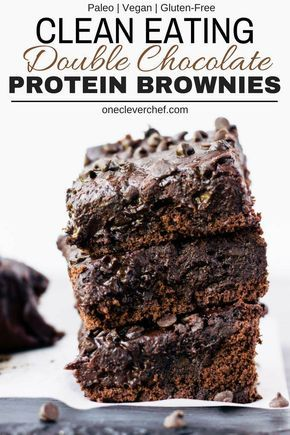 Black Bean Protein Brownies - One Clever Chef