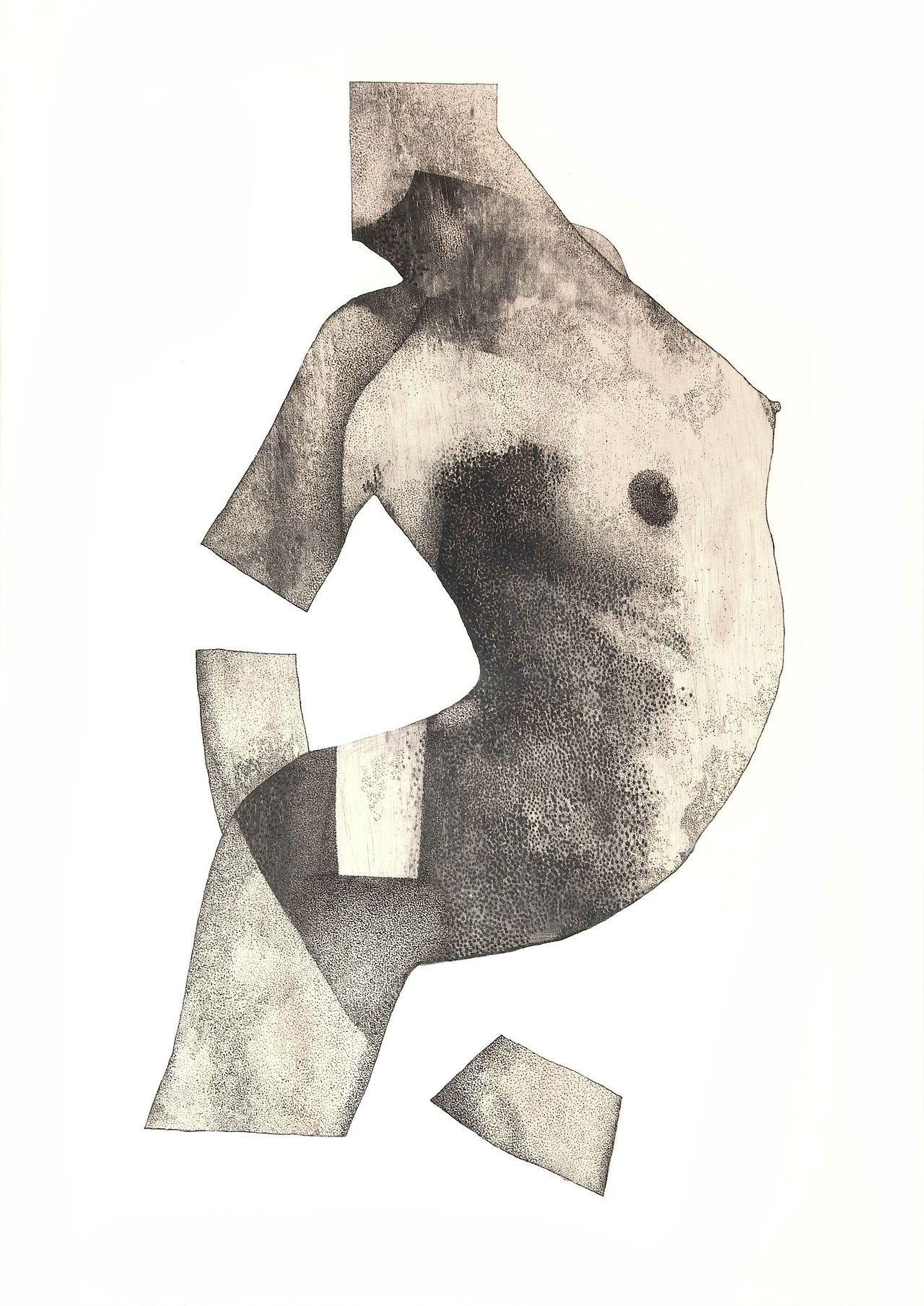 Evan Isoline  'Priestess'  Mixed media on wood panel, 2012