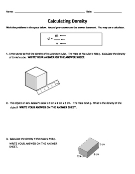 Calculating density pinterest worksheets students and learning students will apply what they have learned about volume and mass in order to calculate density ibookread ePUb