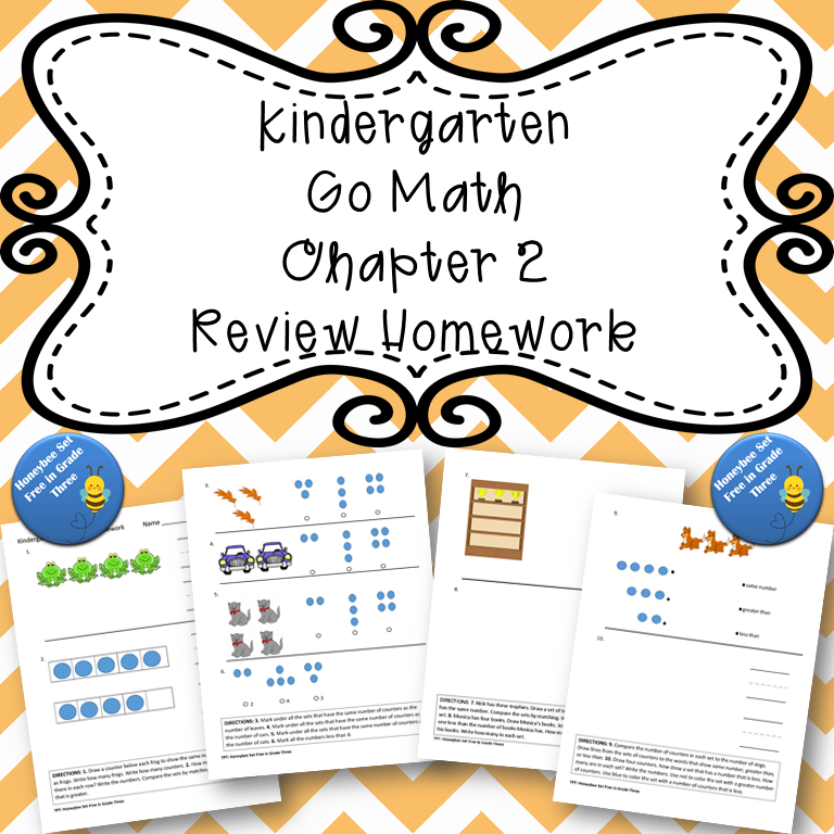Kindergarten Go Math Chapter 2 Review Homework | Go math ...
