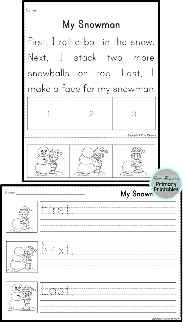 Sequencing Stories Seasons 3 Part Stories Reading Comprehension Kindergarten Sequence Writing Writing Rubric