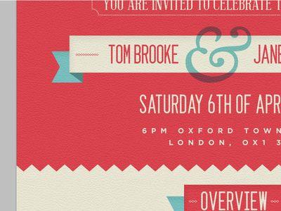 Wedding invite inspiration   detail
