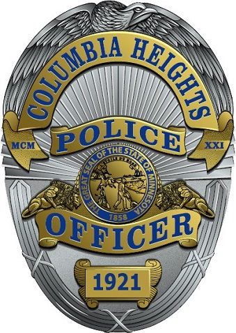 Columbia Heights Pd Mn Police Officer Badge Police Badge Police Officer Appreciation