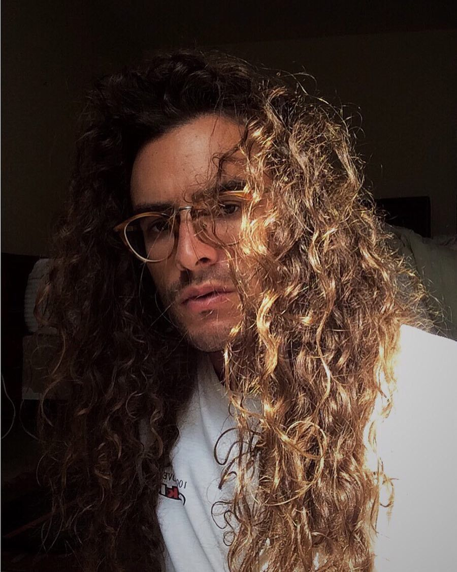 Curly hair inspiration  men with curly hair  curly hair for men