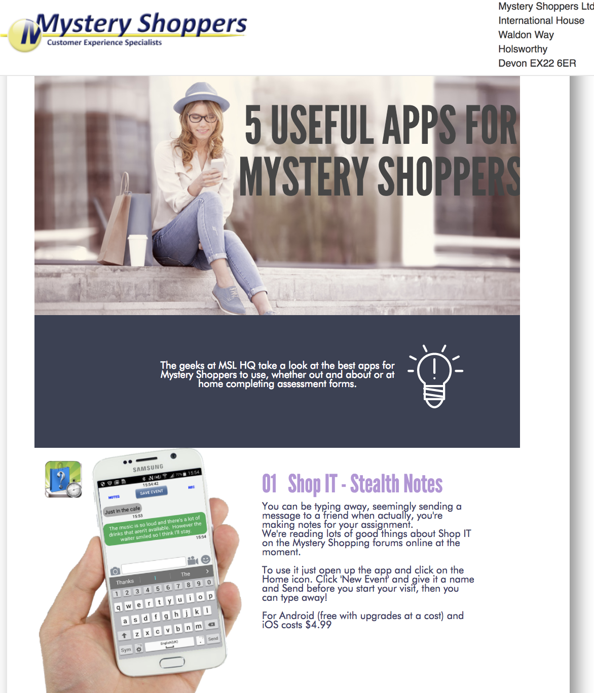Shop It Stealth Notes Mobile Application Transforming The
