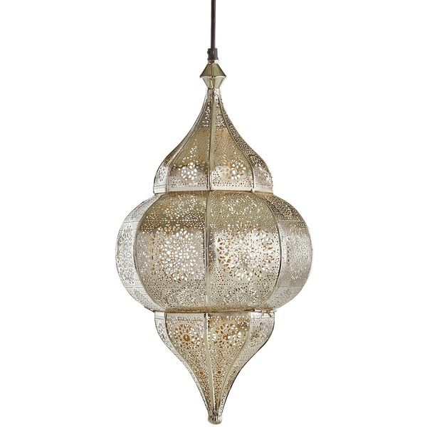 Pier 1 Imports Ayla Pendant Light 120 CAD Liked On Polyvore Featuring Home Moroccan
