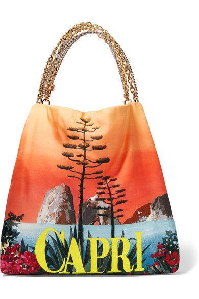 DOLCE   GABBANA Capri Printed Silk-Twill Shoulder Bag.  dolcegabbana  bags   shoulder bags  hand bags  silk 74795bc7fdd1e