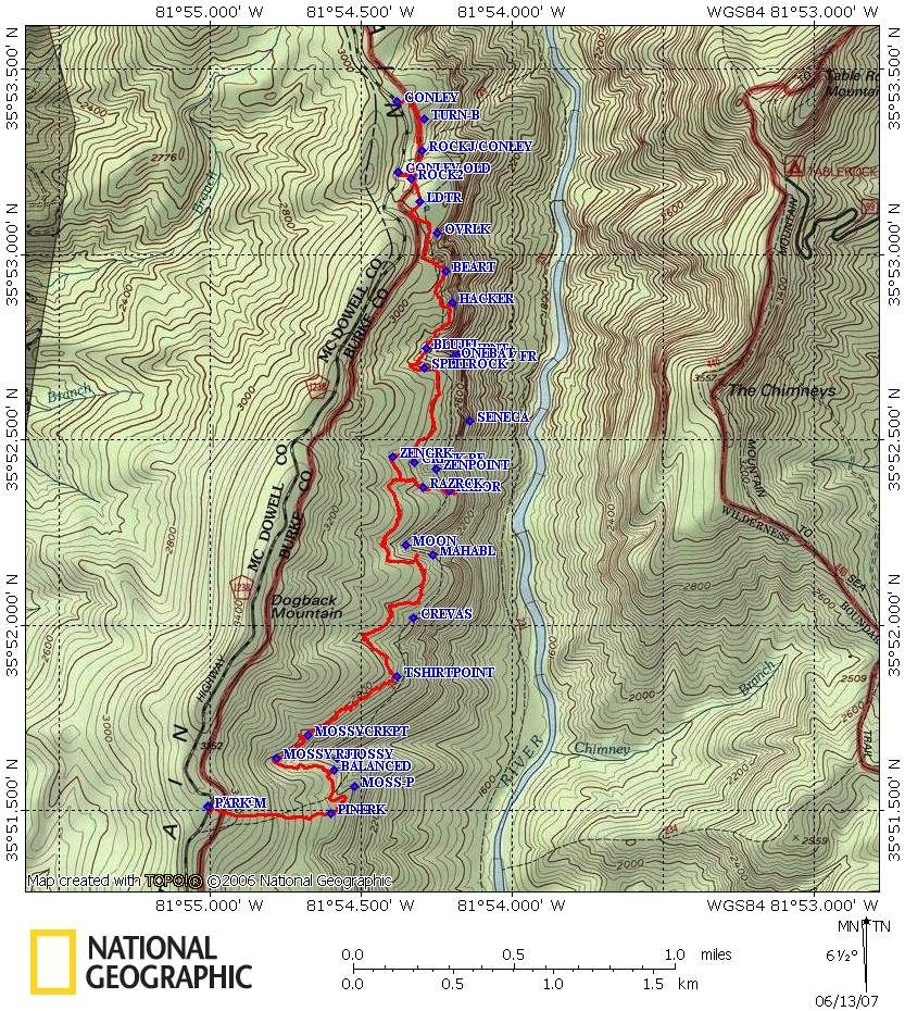 linville gorge trail map - Google Search | My Toe River Valley ...