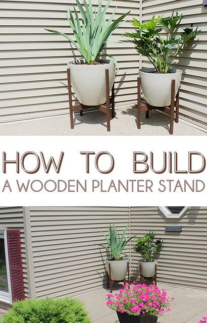how to build a wooden planter stand make me pinterest selfmade balkon und wohnideen. Black Bedroom Furniture Sets. Home Design Ideas