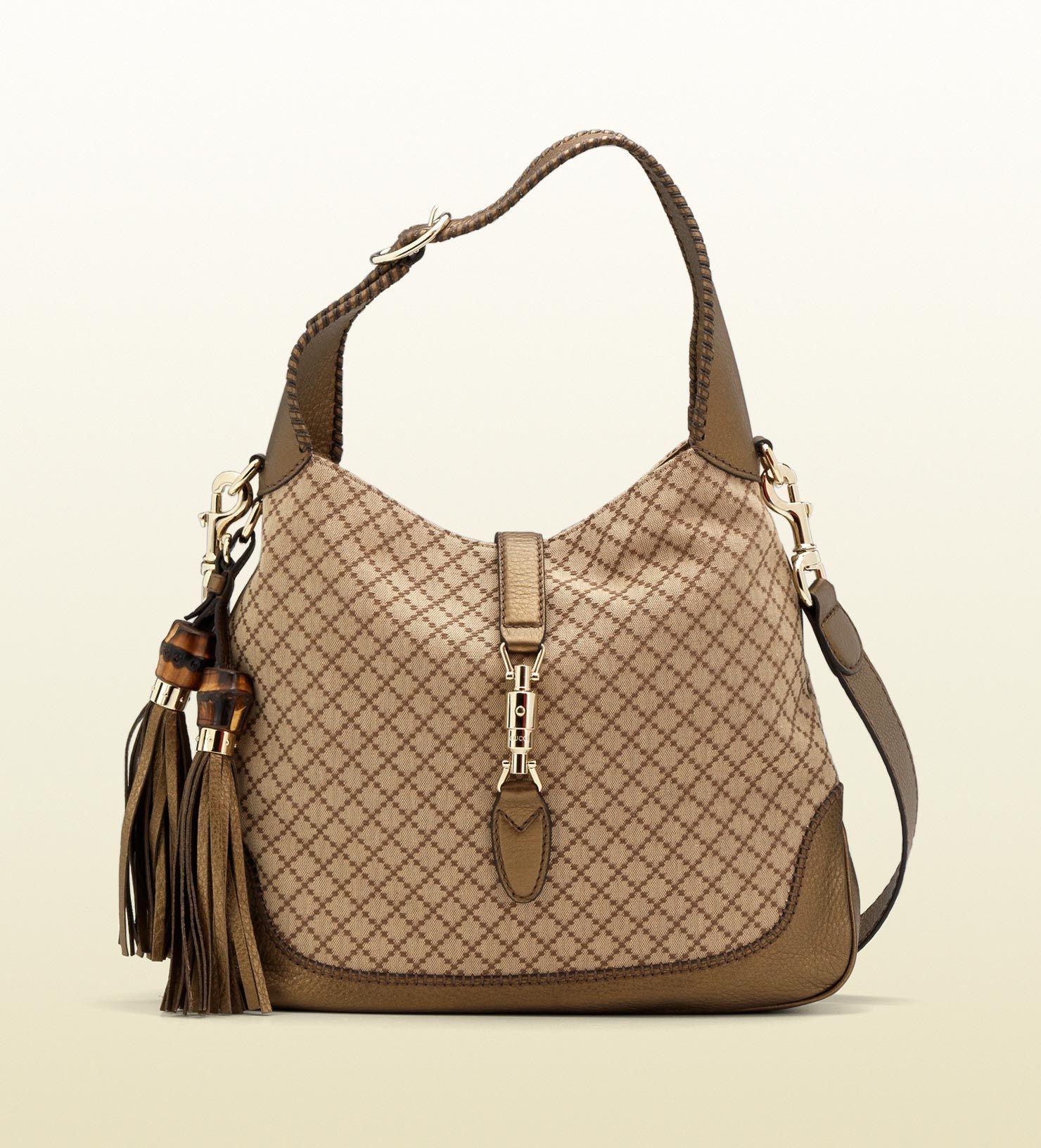 9f1fe0b8bcf Bag · Gucci new jackie diamante canvas shoulder bag
