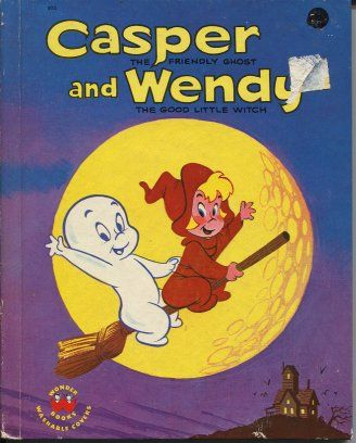 casper and wendy. casper the friendly ghost and wendy good little witch - loved comics that featured the casper and wendy