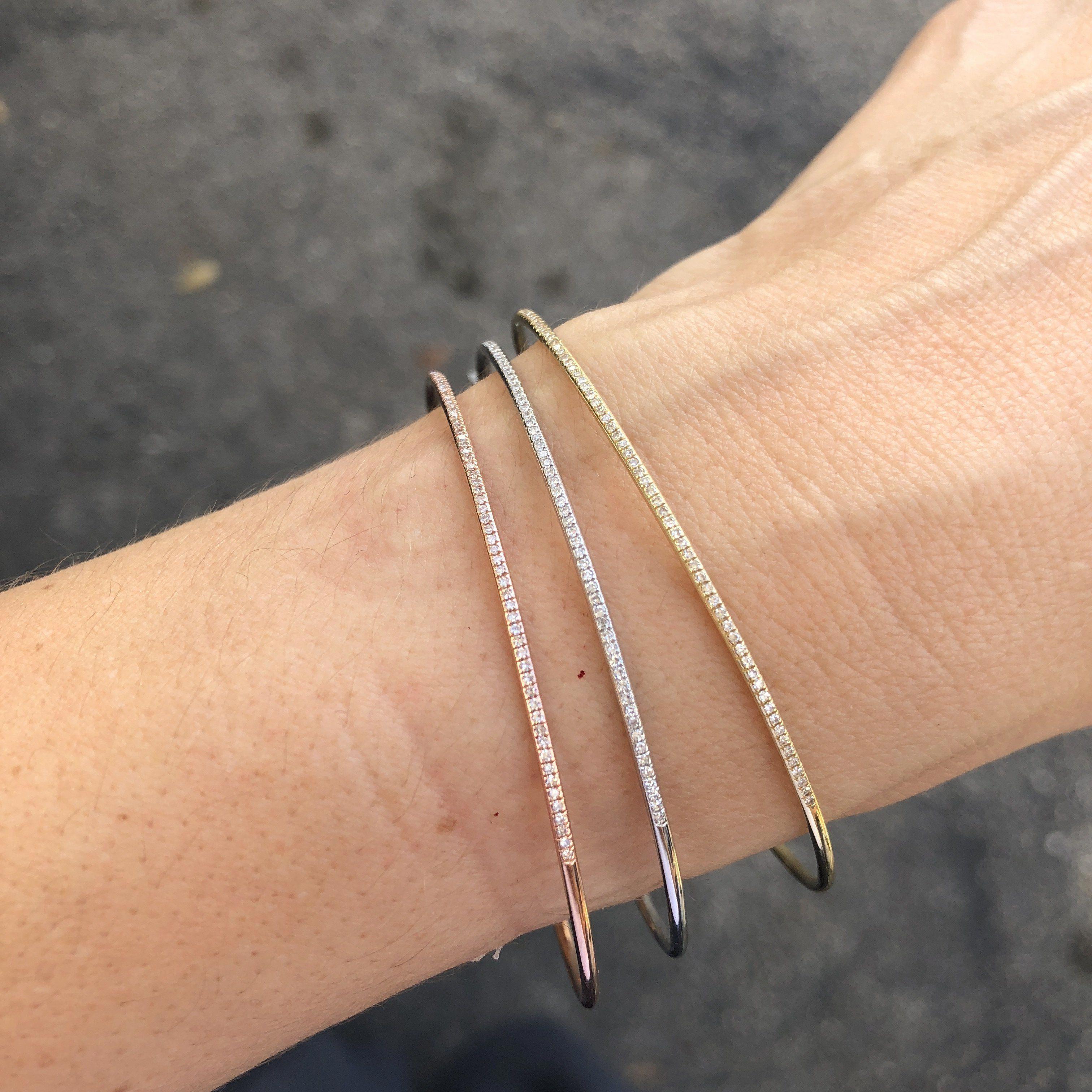 Awesome Diamond Bangle Bracelet Diamondbanglebracelet Thin Diamond Bracelet Jewelry Bracelets Silver Sterling Silver Bracelets
