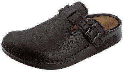 6878e7a7880e4 Tatami Oklahoma Women's Leather Clogs, Buffalo Black With A Narrow ...