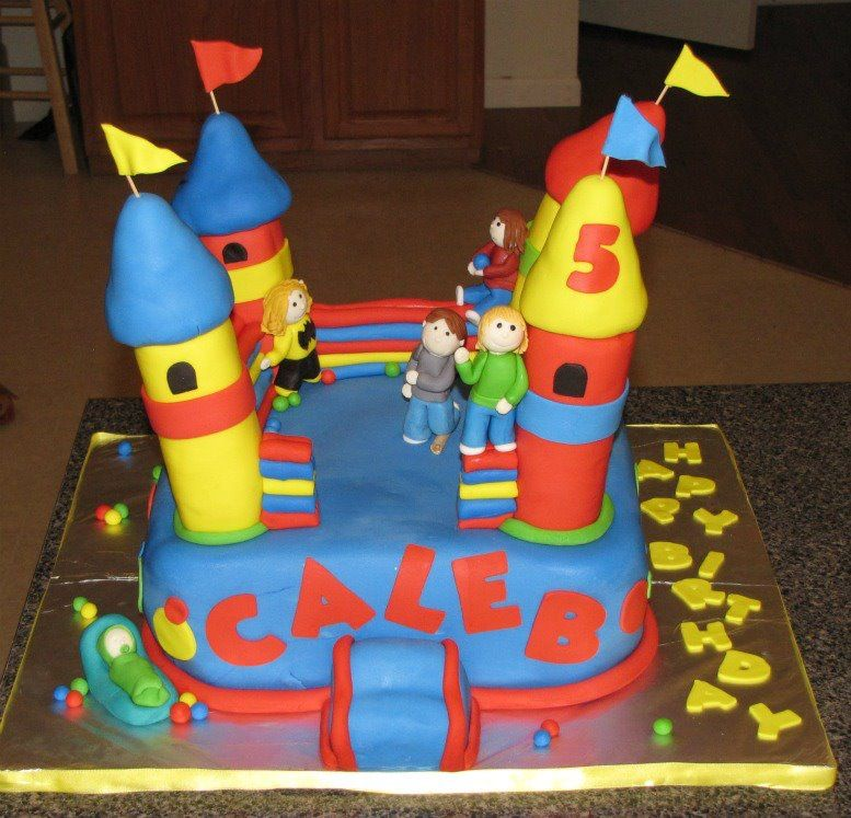 Bounce House cake My Creations Pinterest House cake Cake