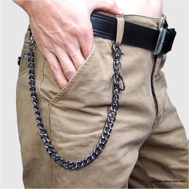 0beed5e554 Fashion Punk Hip-hop Trendy Belt Waist Chain Male Pants Chain Hot ...