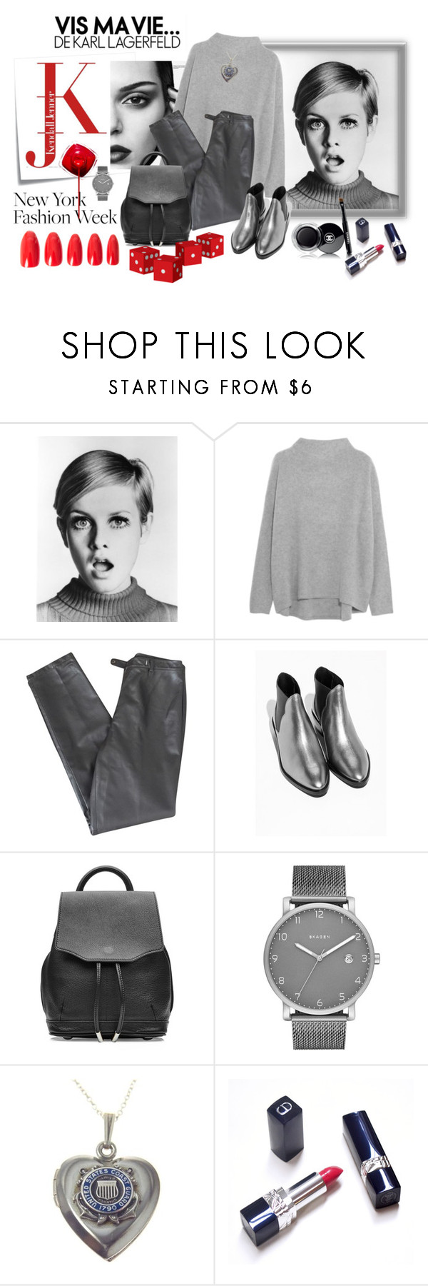 """""""jesienne"""" by margo47 ❤ liked on Polyvore featuring Post-It, Vince, Lafayette 148 New York, rag & bone, Skagen and Chanel"""