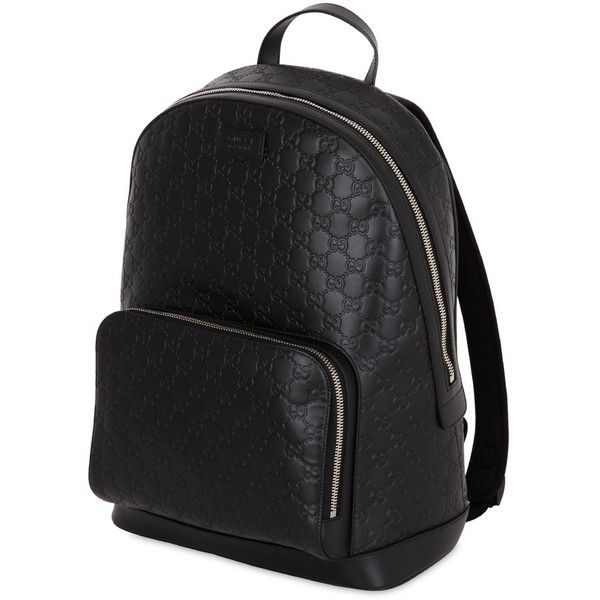 196baa0751a4e1 Gucci Men Gucci Signature Leather Backpack (2,150,780 KRW) ❤ liked on  Polyvore featuring men's
