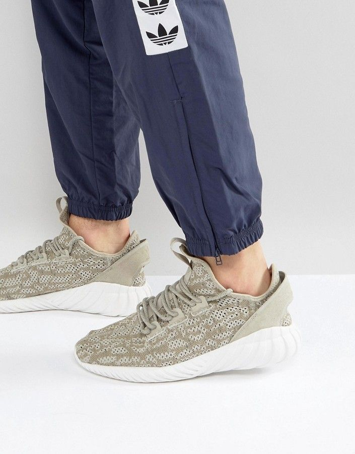 adidas originali tubulare doom sock primeknit scarpe in beige