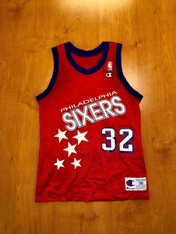 3717914e0 Vintage 1992 Charles Barkley Philadelphia 76ers Champion Jersey Size 36  suns sixers jerry stackhouse dikembe mutombo nba finals shirt hat by ...