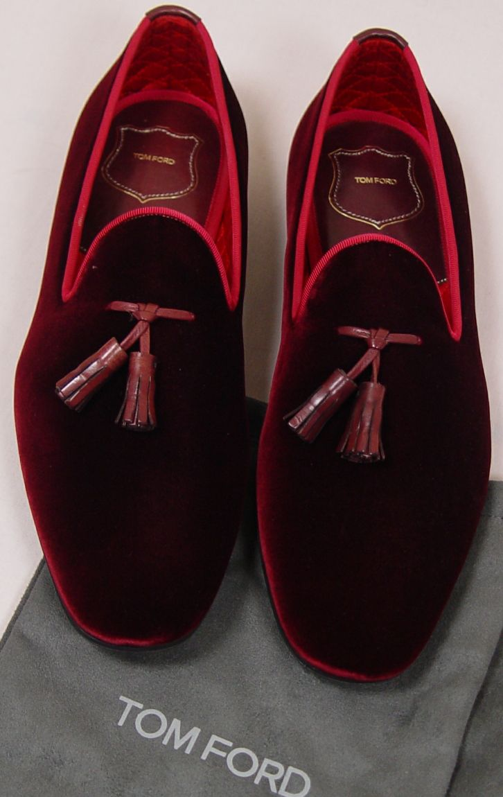 The Versatile Gent Slippers Velvet Mens Ruby Shoes