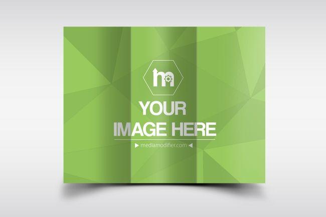 Online mockup generator for a classic 11x8,5 tri fold brochure Top